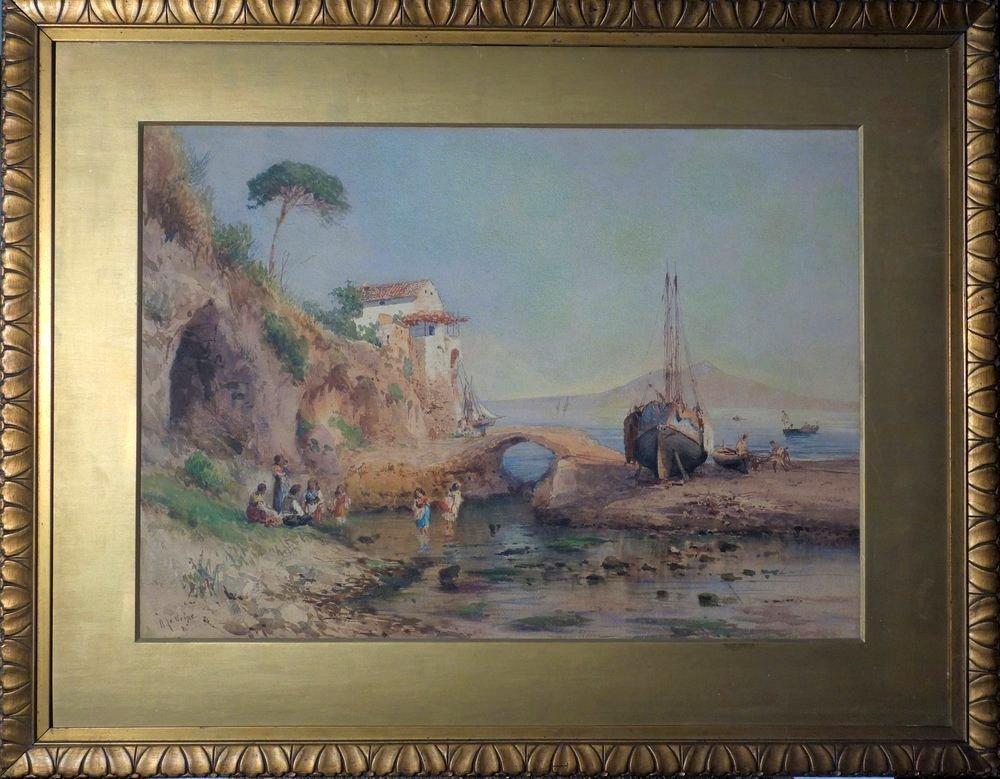 ALESSANDRO LA VOLPE (1820-1887) Vita costiera Amalfitan - 2