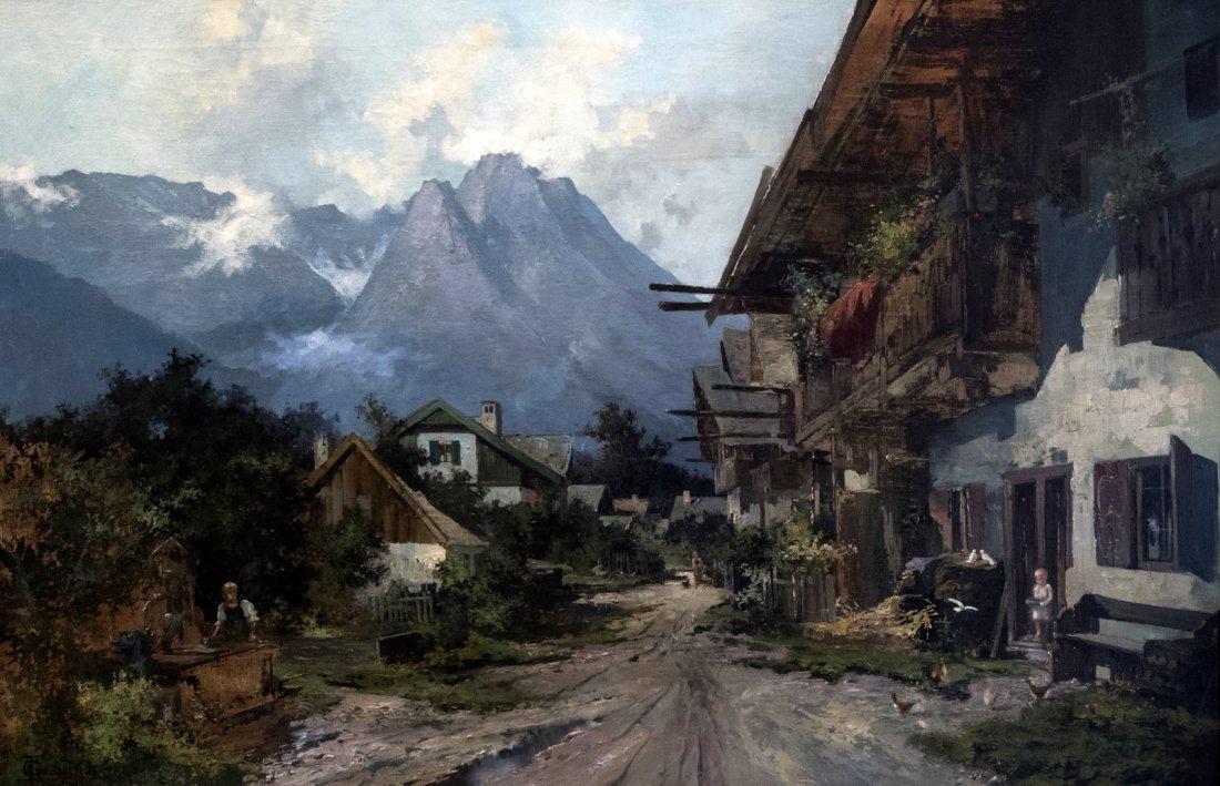 GERHRDUS J.ROERMEESTER (1844-1936) Cottage in mountain