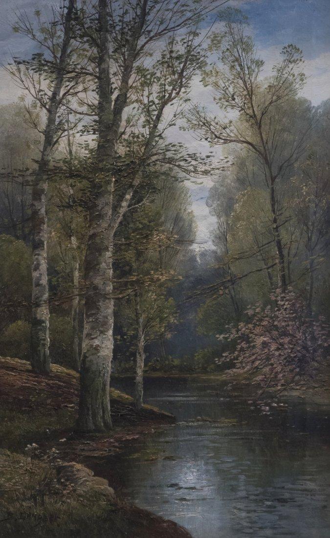 B.LAMBERT aka KARL KAUFMANN (1843-1905) Wooden Scene