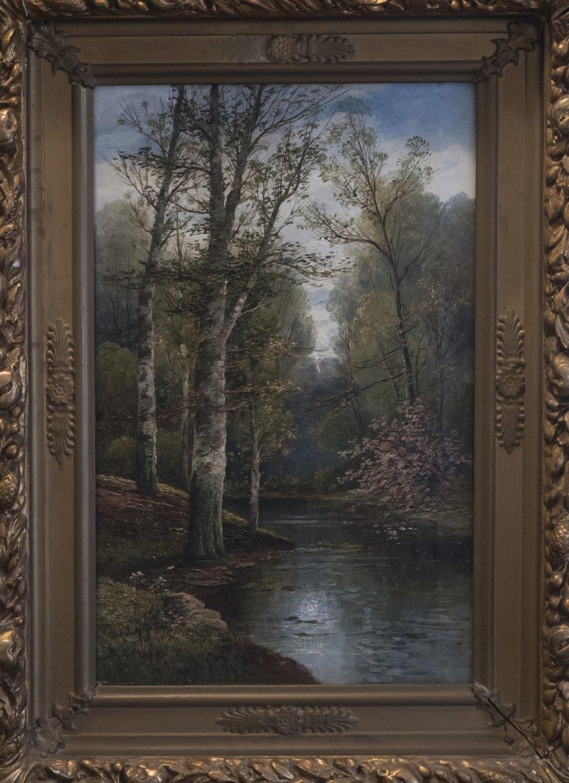 B.LAMBERT aka KARL KAUFMANN (1843-1905) Wooden Scene - 2