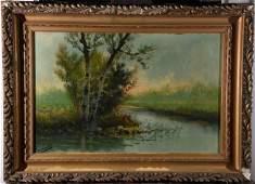 JOSE MARIA TAMBURINI (1856-1932) Landscape II