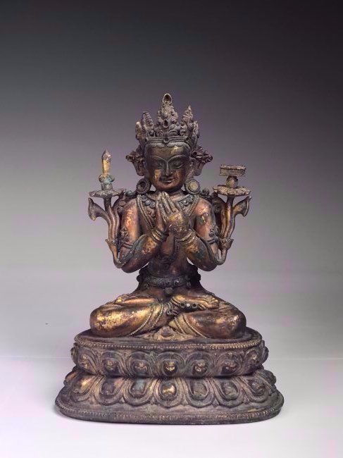 Antique Gilt Bronze Buddha