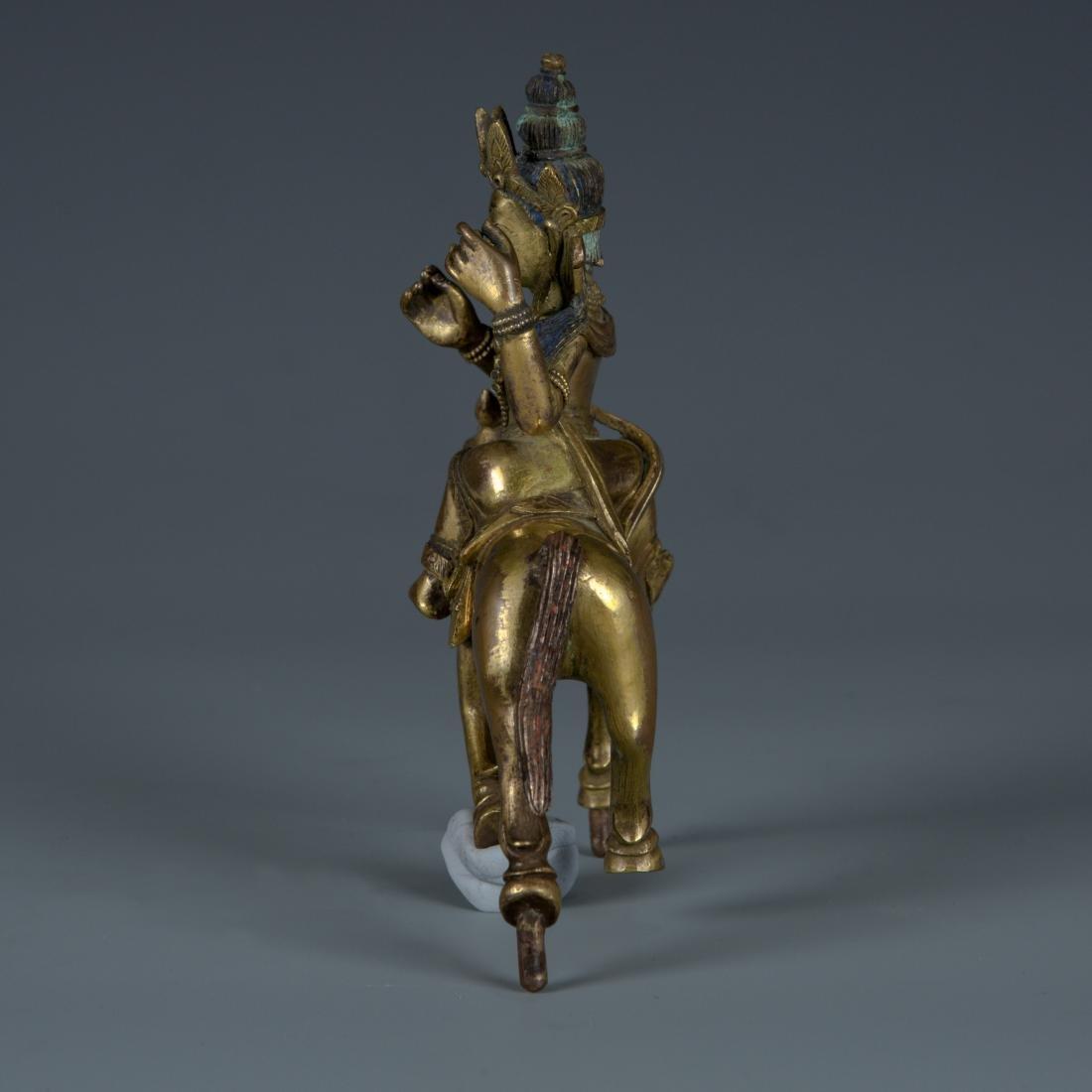 Gilt Bronze figure of Palden Lhamo - 2
