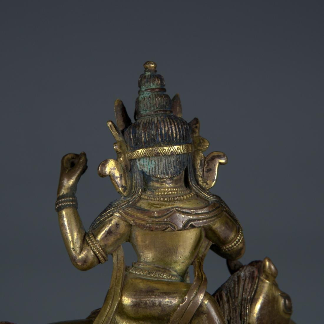 Gilt Bronze figure of Palden Lhamo - 6