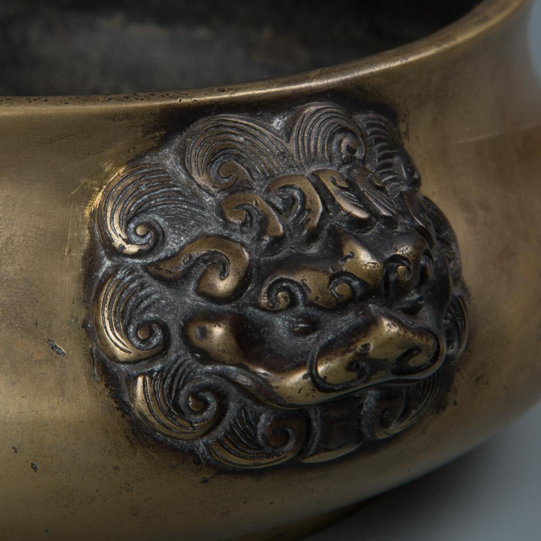 Chinse Lion Head Bronze Censer, Marked Xuande - 7