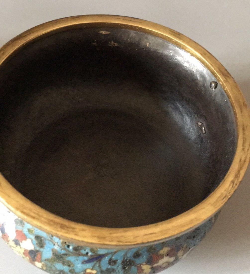 A Chinese Gilt-Bronze Cloisonne Enamel  Censer - 7