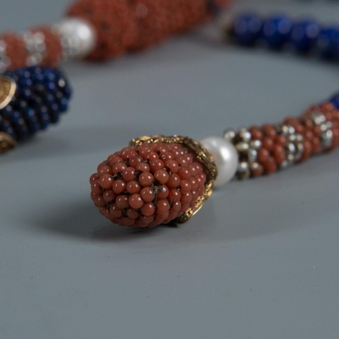 108 Bead Coral Covered Pearl Prayer Beads - 2