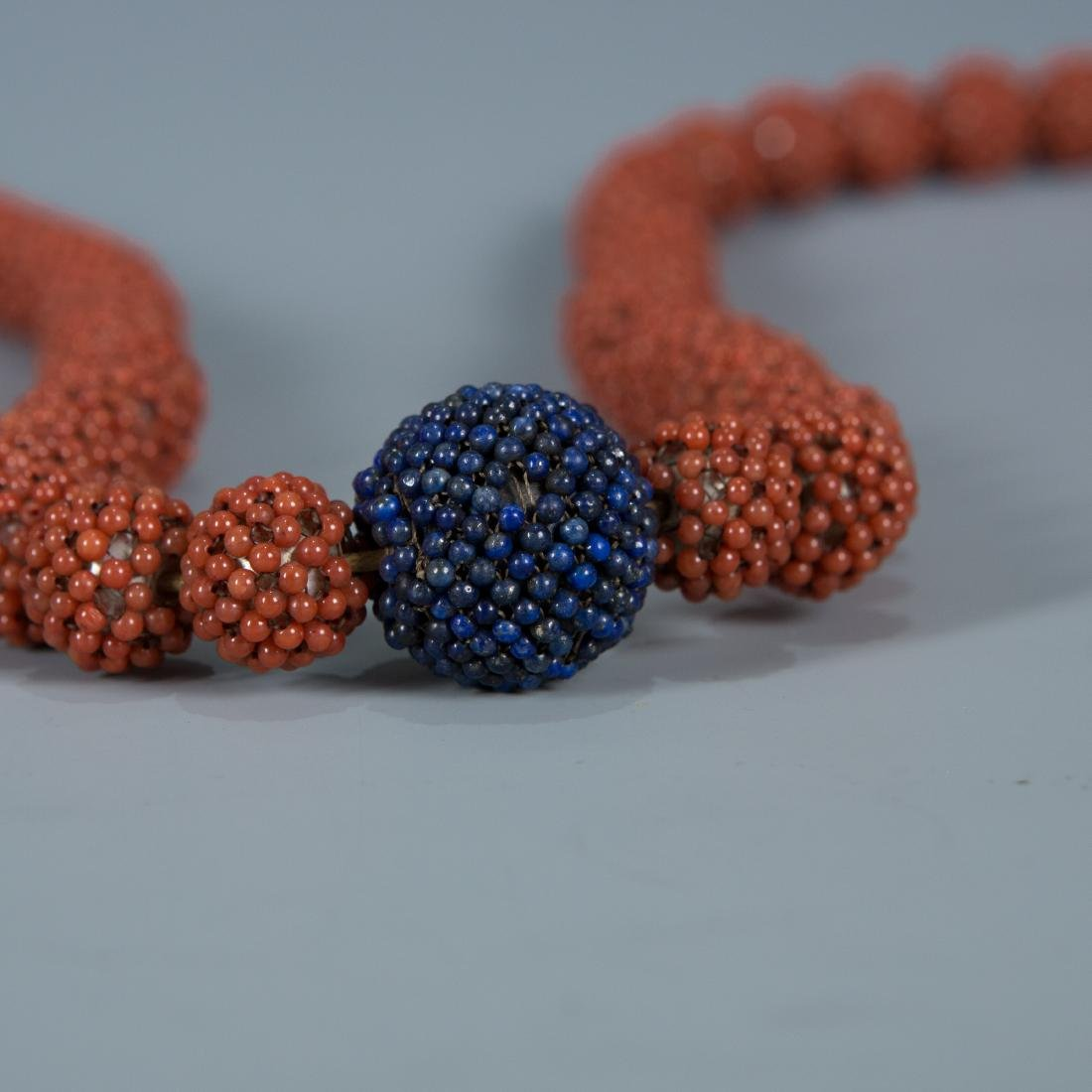 108 Bead Coral Covered Pearl Prayer Beads - 3