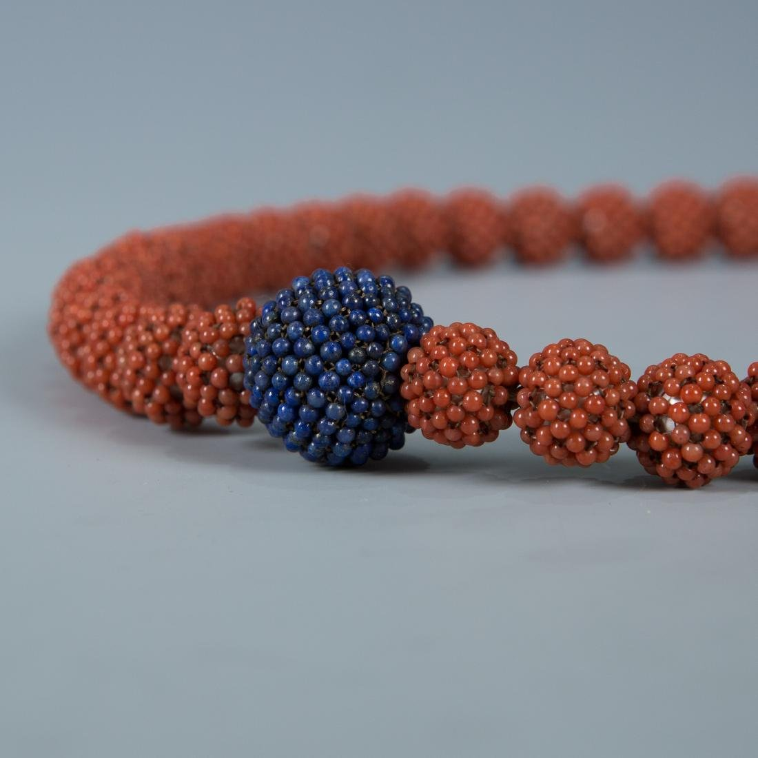 108 Bead Coral Covered Pearl Prayer Beads - 4