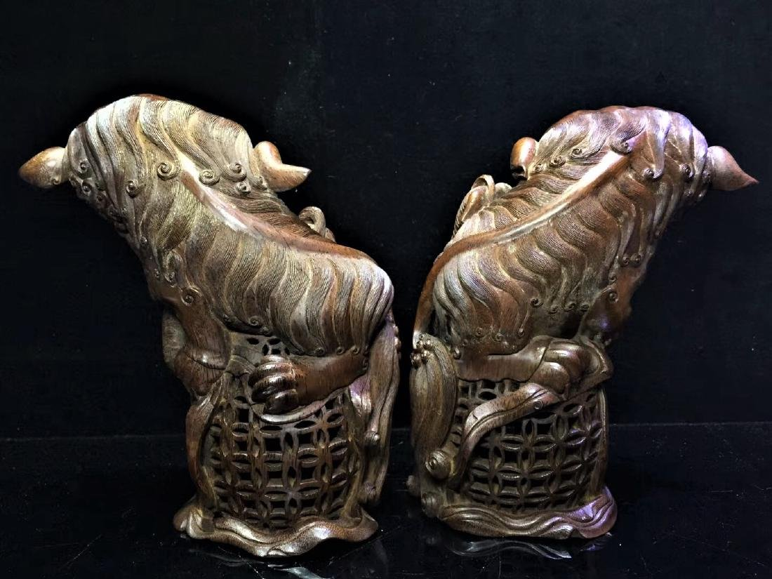 A Pair of Bamboo  Foo Dogs - 3