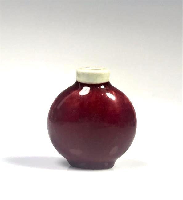 Red Glazed Porcelain Snuff Bottle