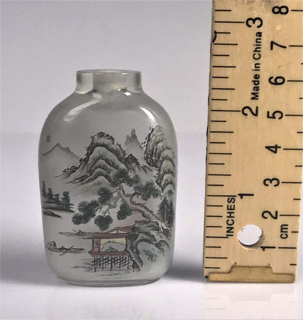inside painted Glass Mountain  Characters Snuff Bottle - 10
