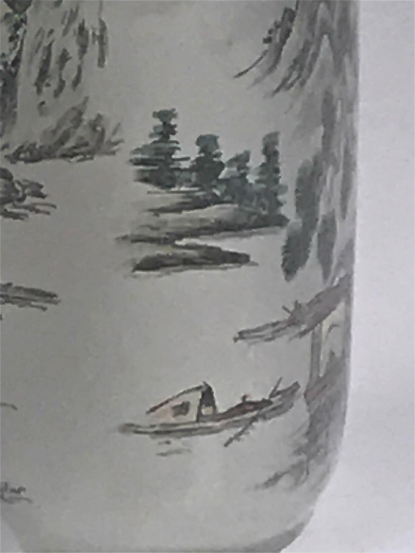 inside painted Glass Mountain  Characters Snuff Bottle - 4