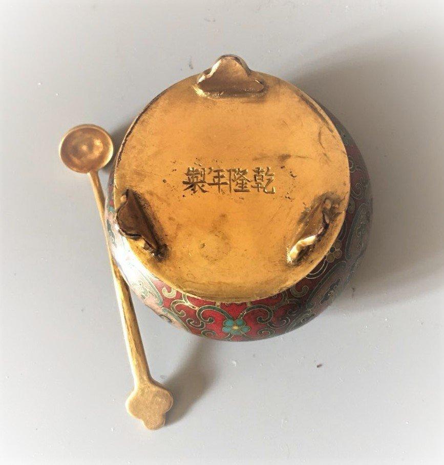 Cloisonne Enamel Gilt-Bronze Small Bowl With Spon - 6