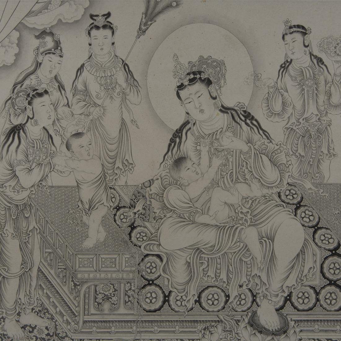 Chinese Painting On Paper Signed By DingGuanPeng - 5