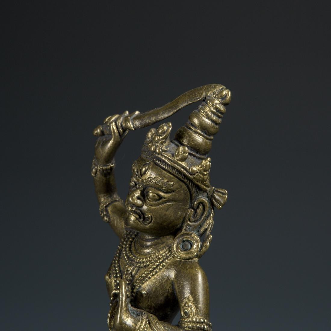 Gilt Bronze figure of a Guardian - 2