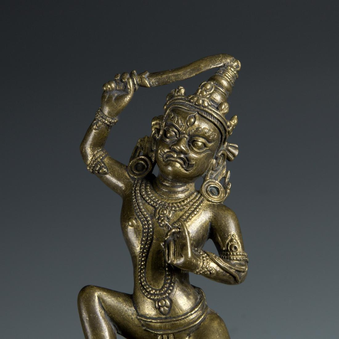 Gilt Bronze figure of a Guardian - 7