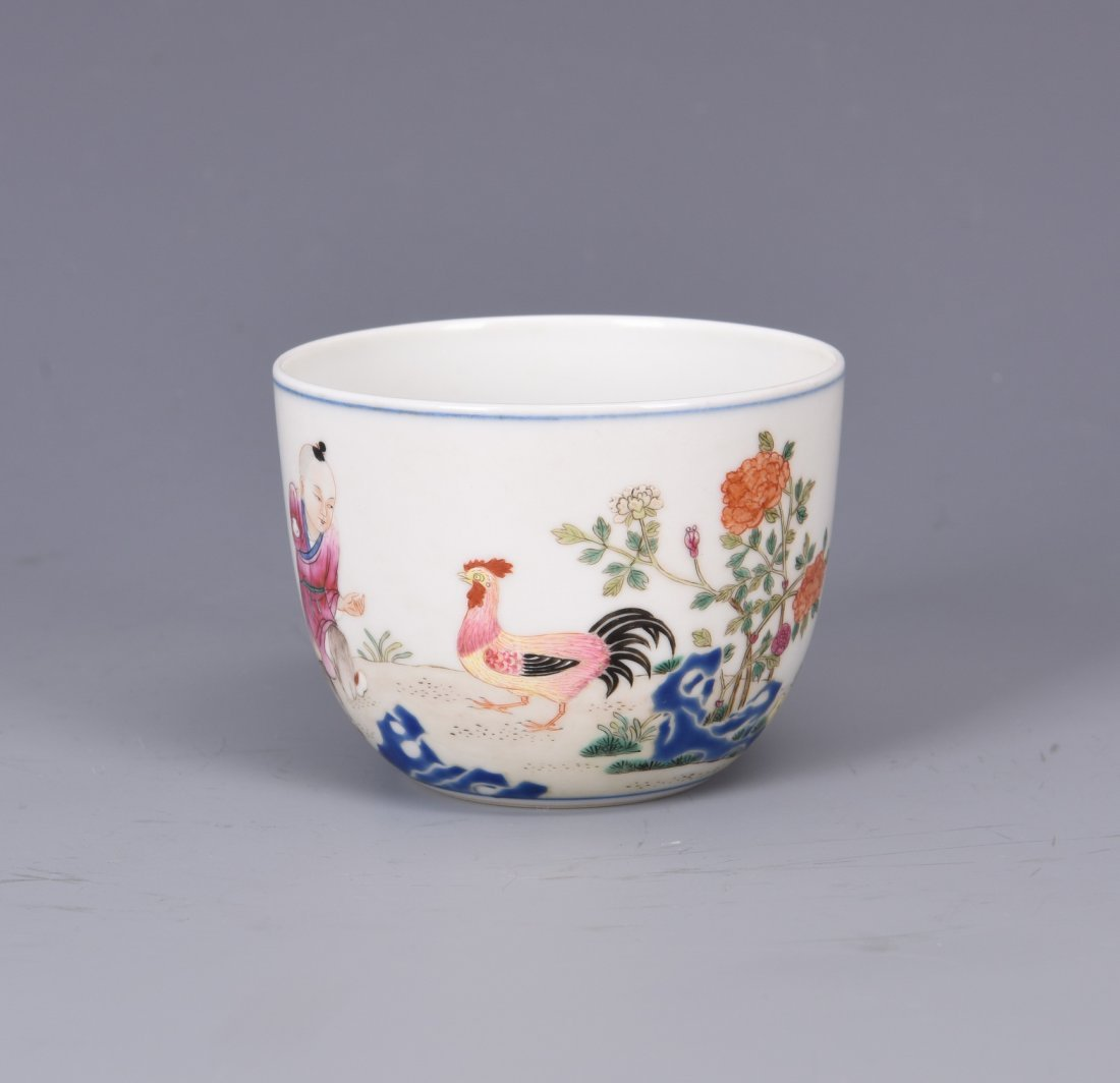 A Chinese Famille Rose Porcelain Cup - 4