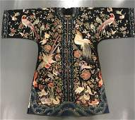 A Silk Embroidered Hundred Birds Robe