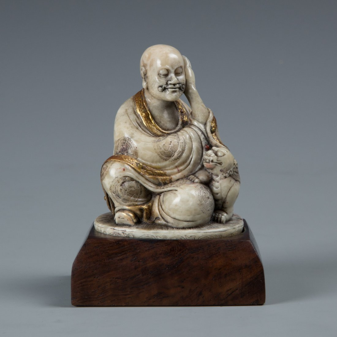 A Chinese Soapstone LuoHan