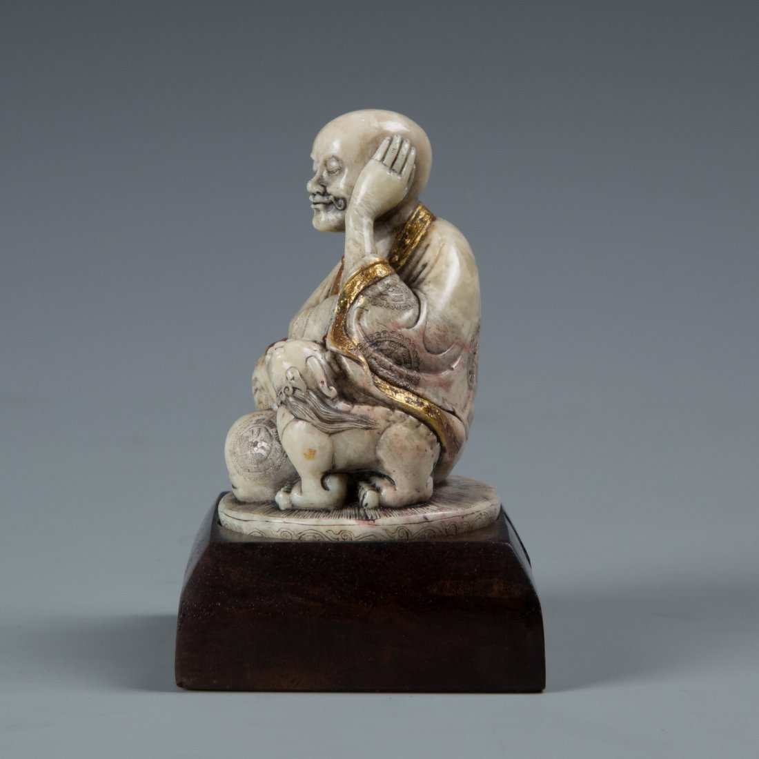 A Chinese Soapstone LuoHan - 2