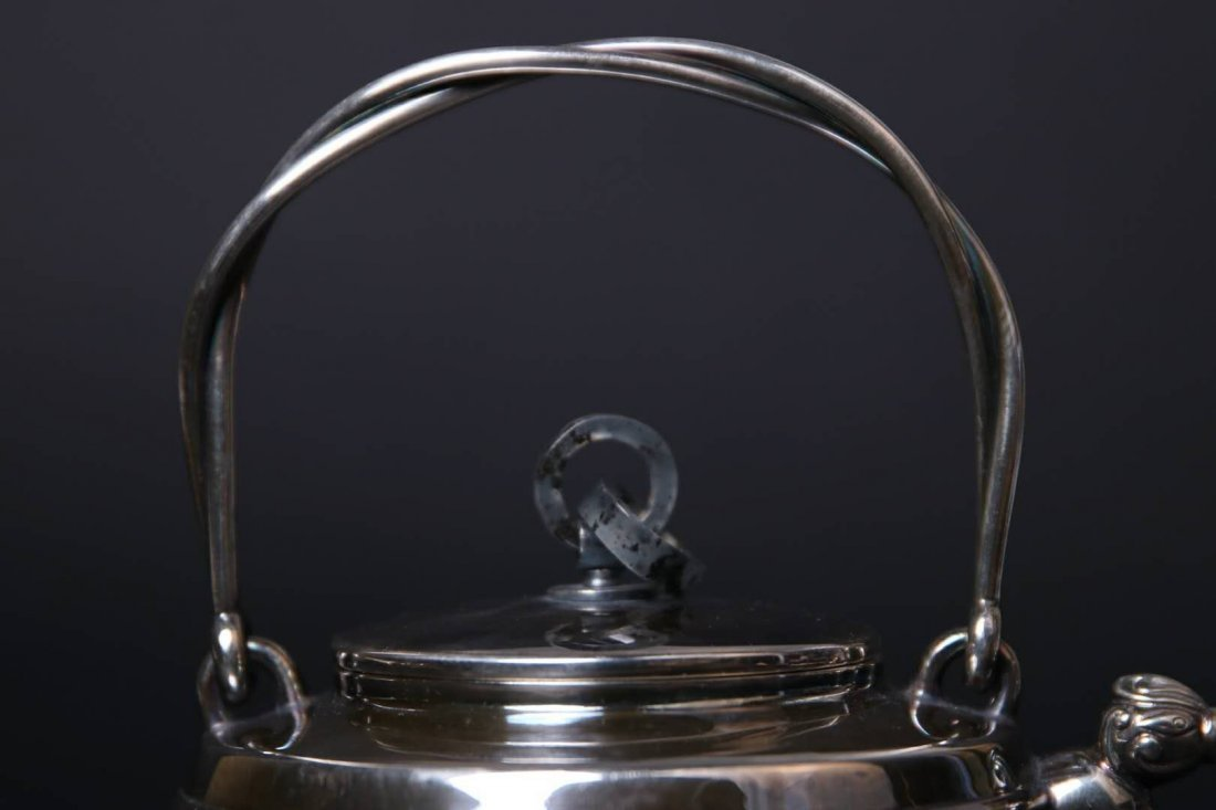 Japanese Silver Teapot With Mark - 2
