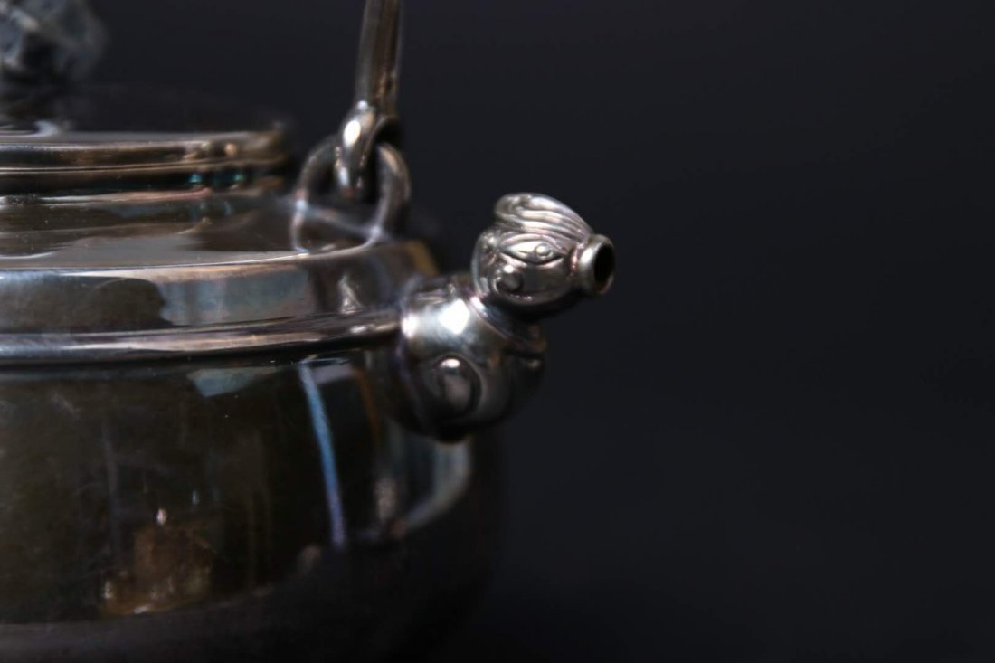 Japanese Silver Teapot With Mark - 3