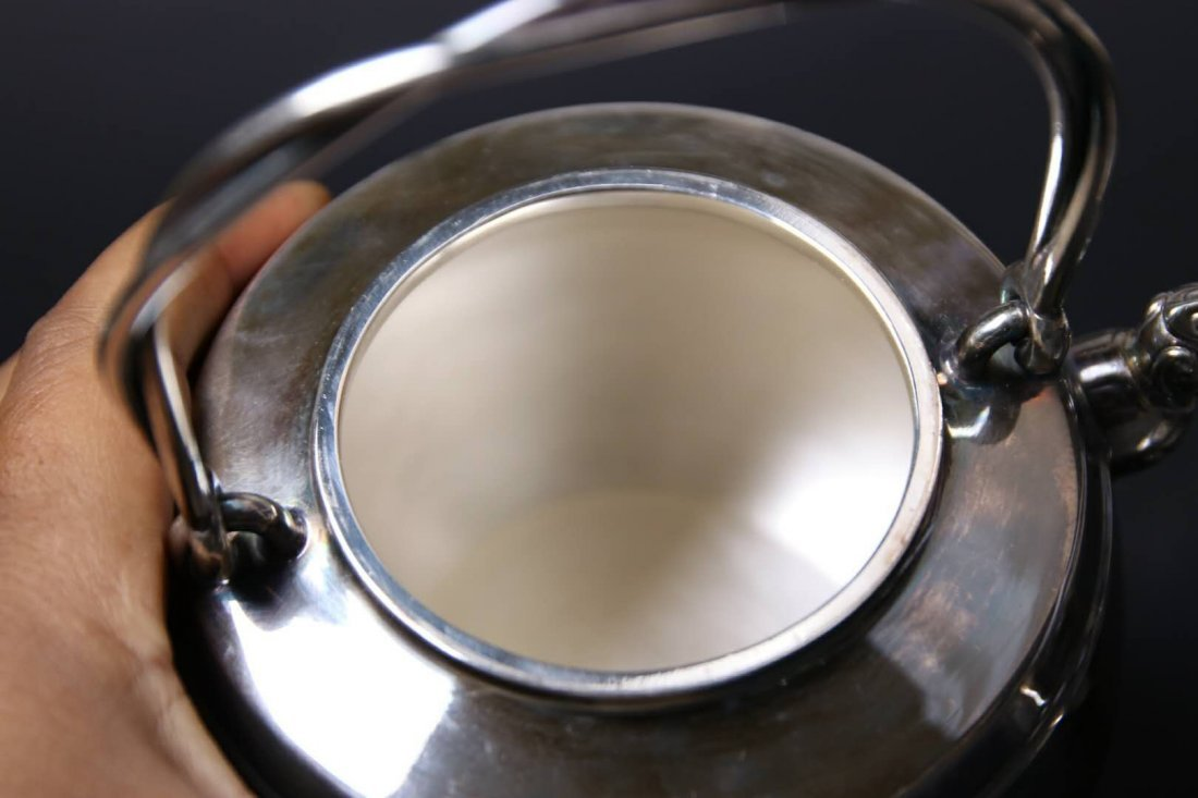 Japanese Silver Teapot With Mark - 8