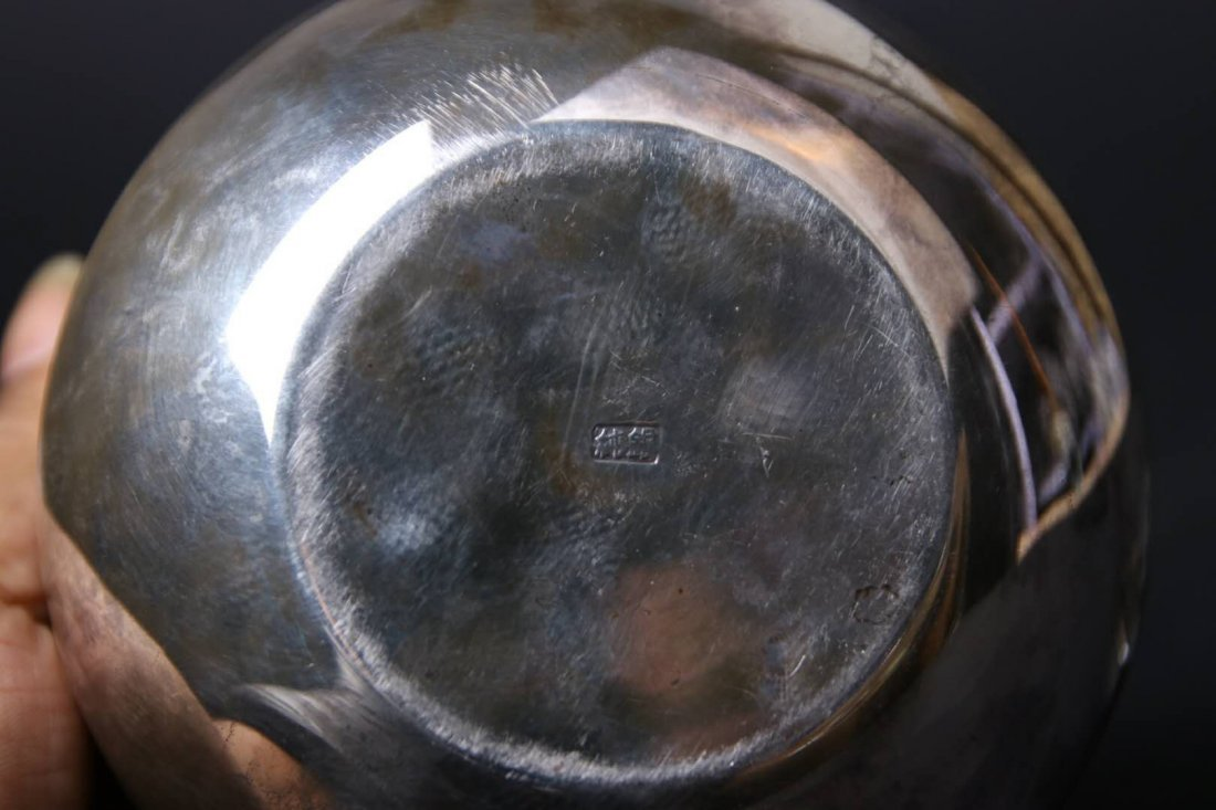 Japanese Silver Teapot With Mark - 9