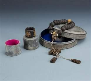 Agarwood 18 Bead Prayer Beads and Ring