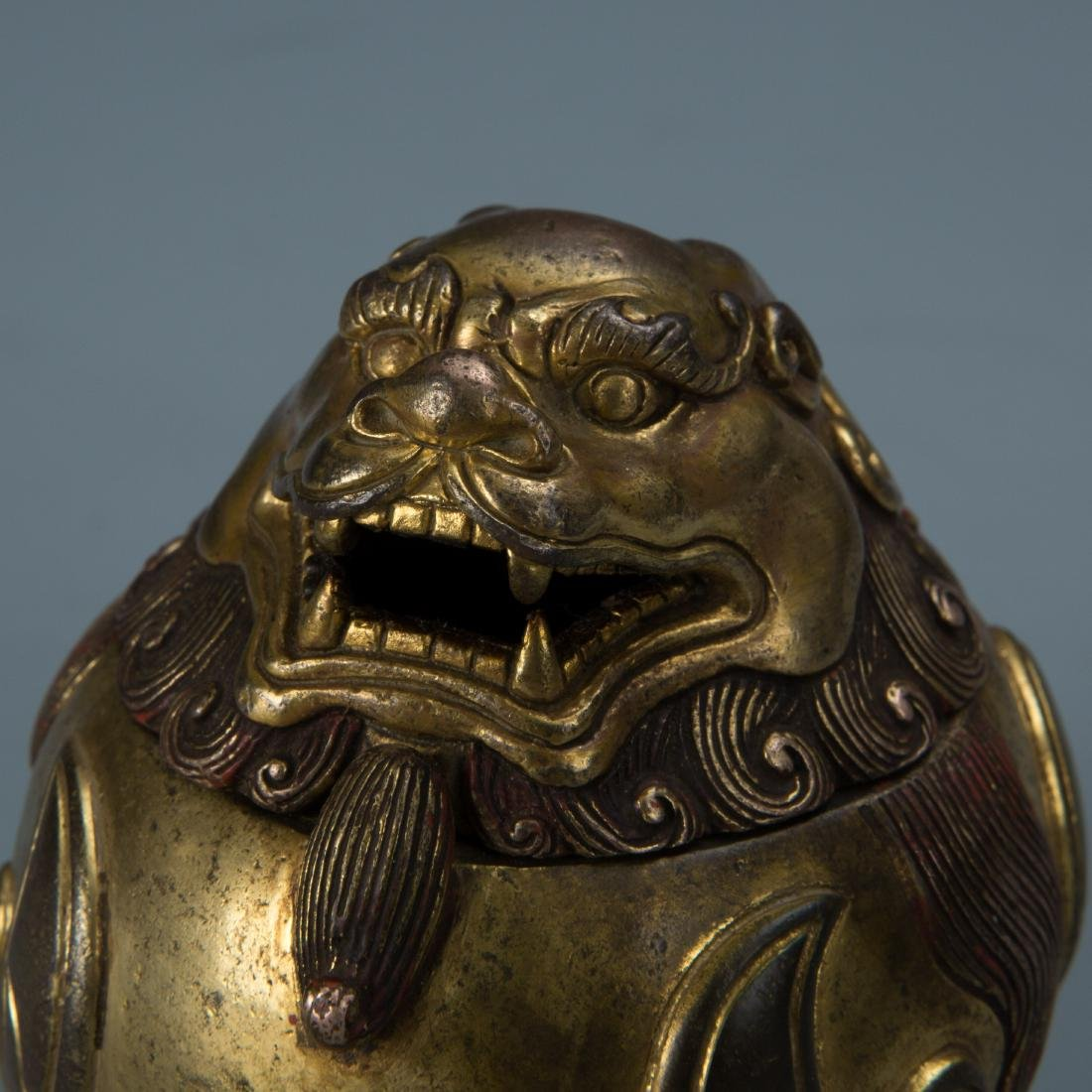 Gilt Bronze Censer of A Mythical Beast with Mark - 3