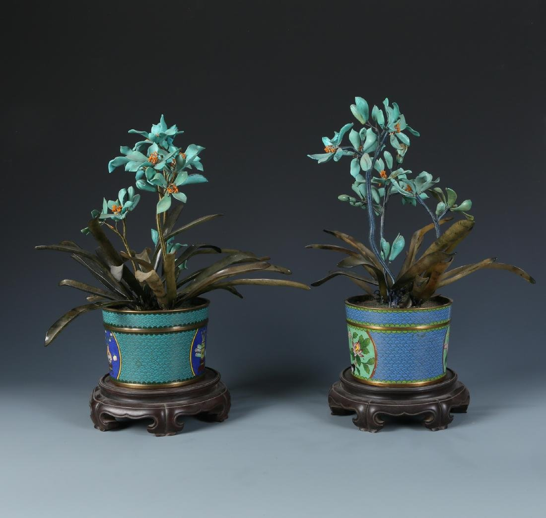Miniascape of  Green Jade Coral and Turquoise - 6