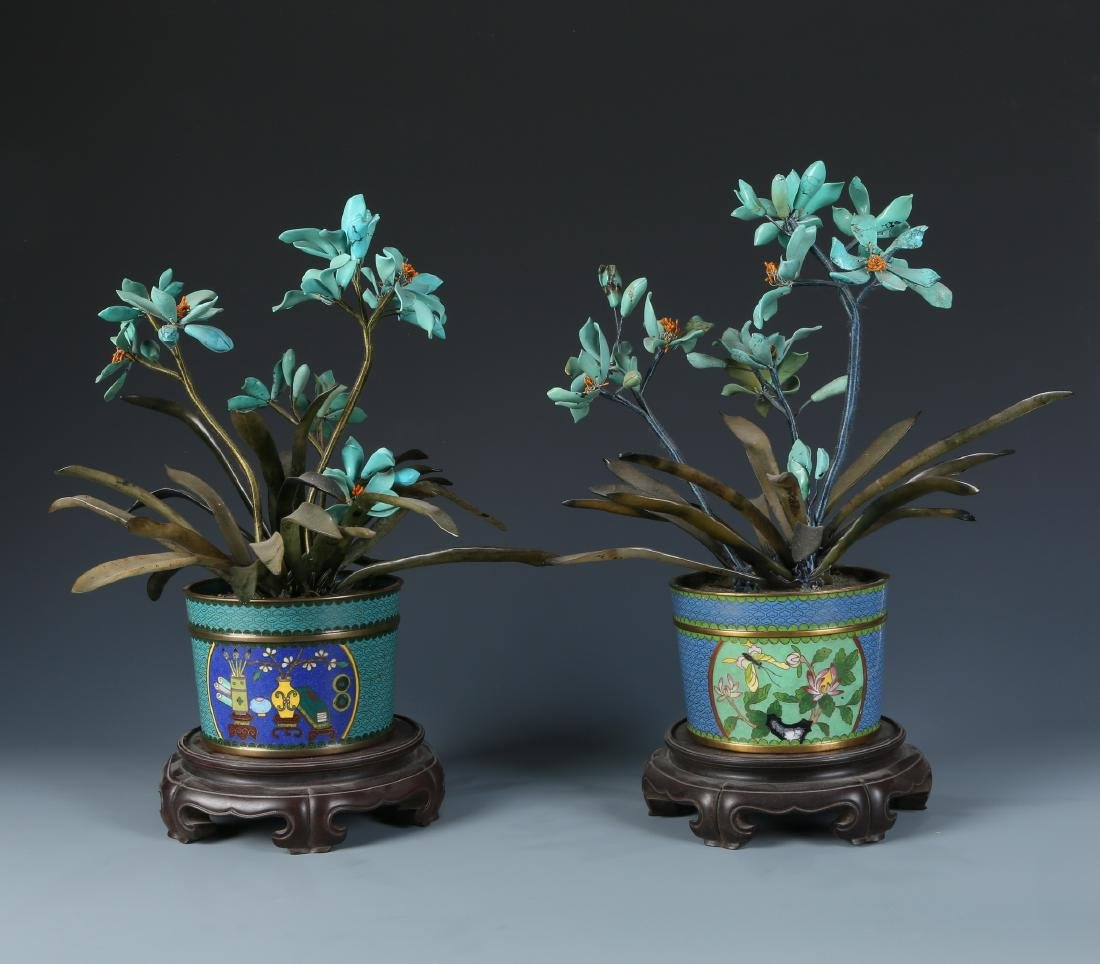Miniascape of Green Jade Coral and Turquoise - 7