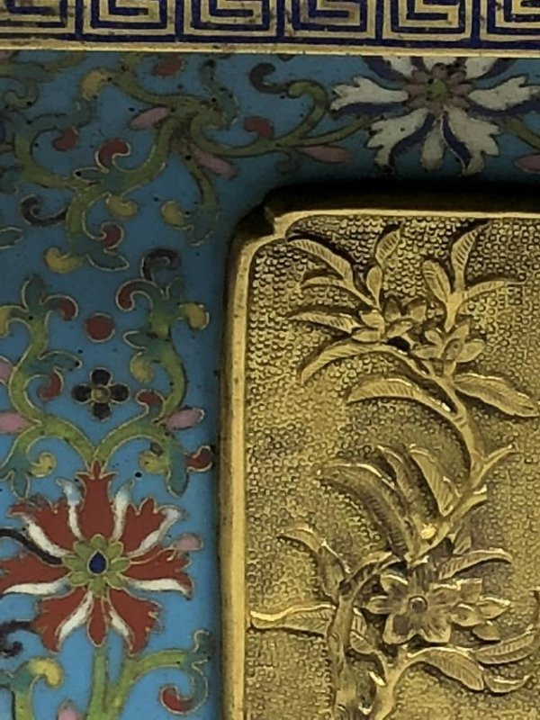 Pair of Chinese Qing Dynasty Cloisonné Planters - 8