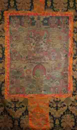 A Tibetan Thangka Depicting Vajrakila Mandala