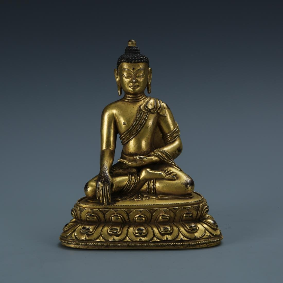 Gilt Bronze Figure of Sakyamuni