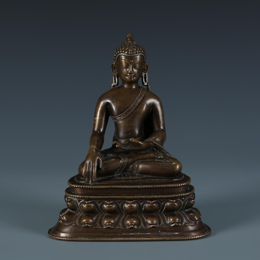 Alloy Metal Red Bronze  Figure of Sakyamuni
