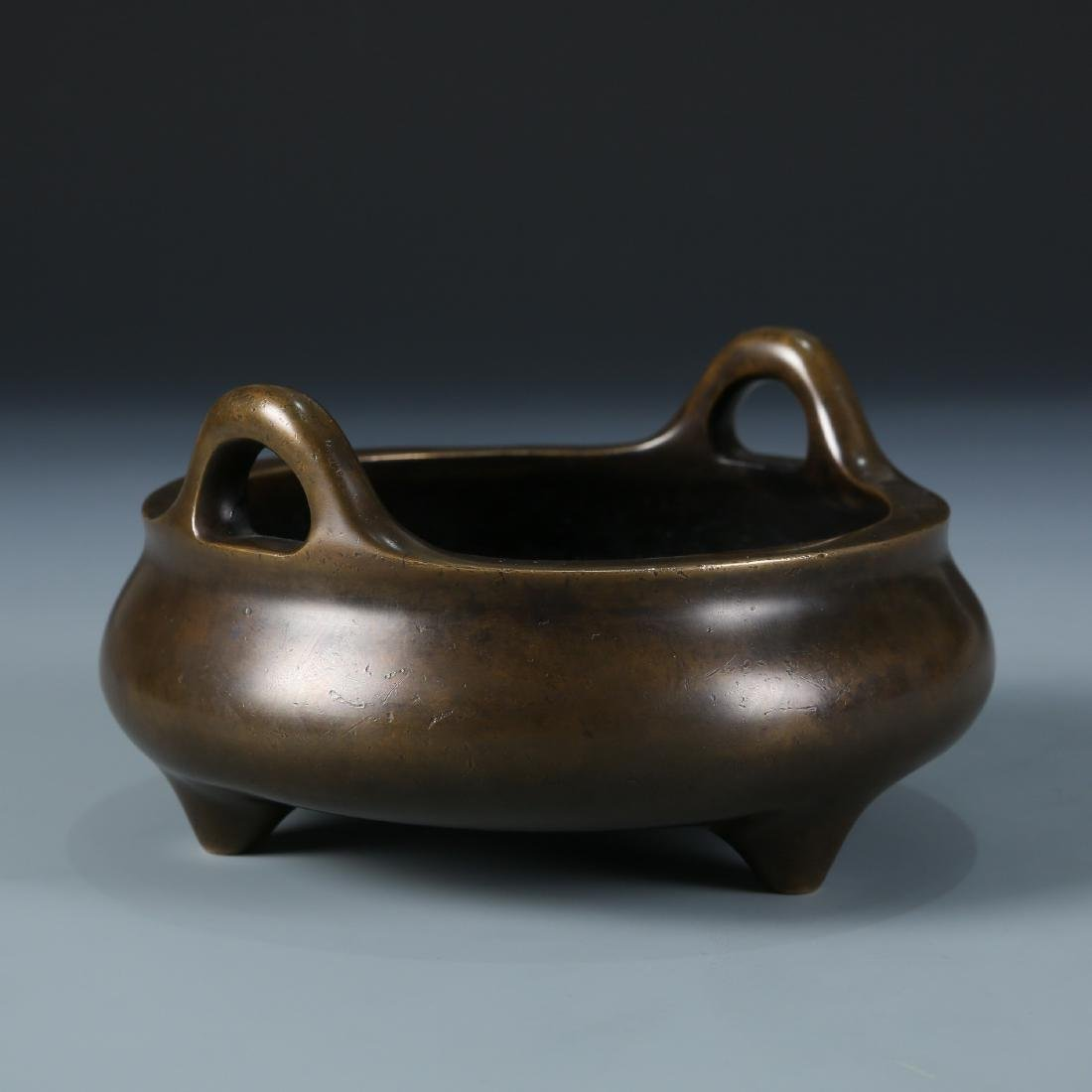 Bronze Tripod Censer with Mark, Daoguang - 2