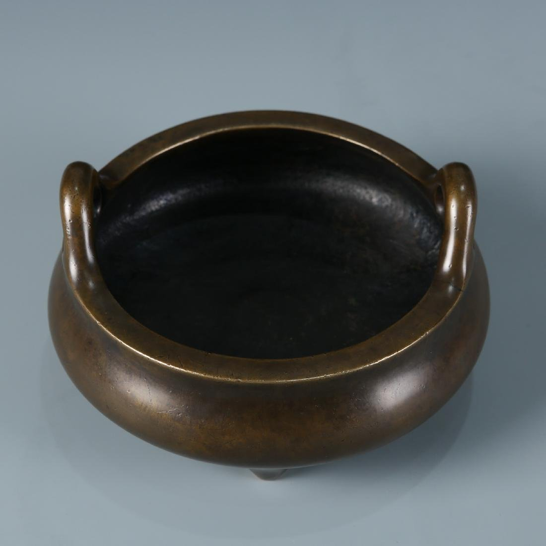 Bronze Tripod Censer with Mark, Daoguang - 4
