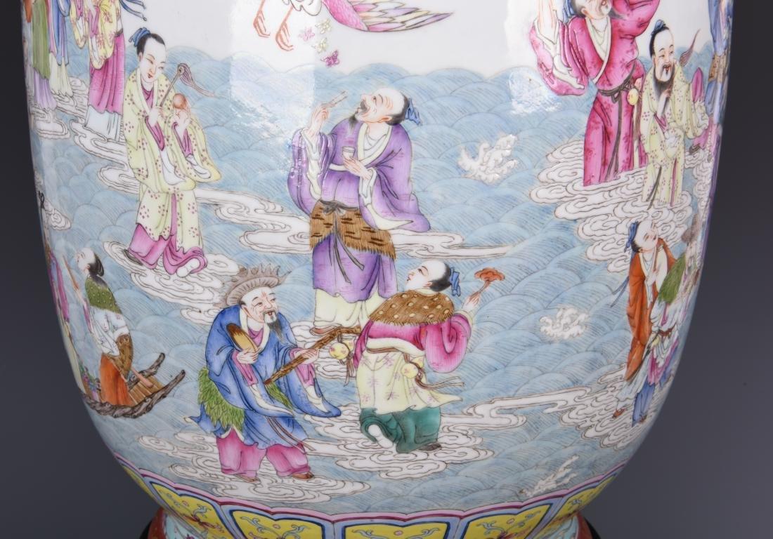 Famille Rose Porcelain  Vase with Mark - 11