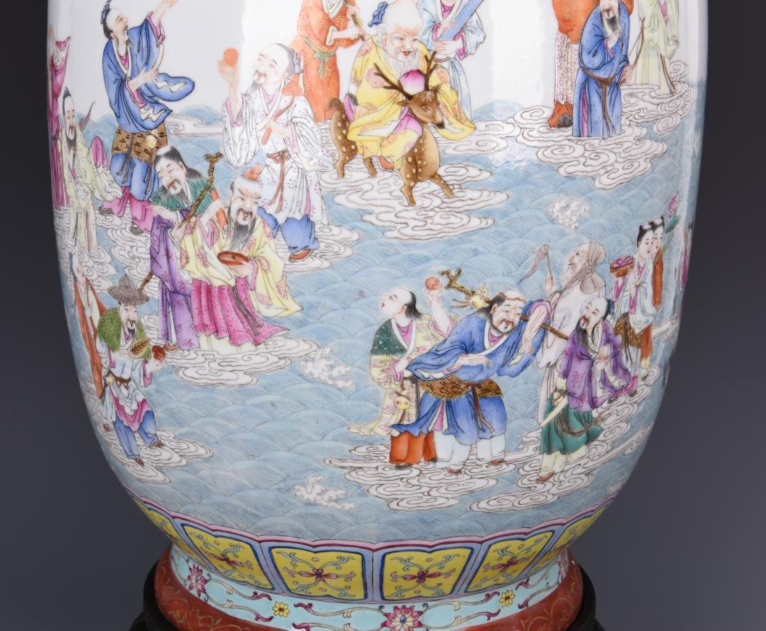 Famille Rose Porcelain  Vase with Mark - 16