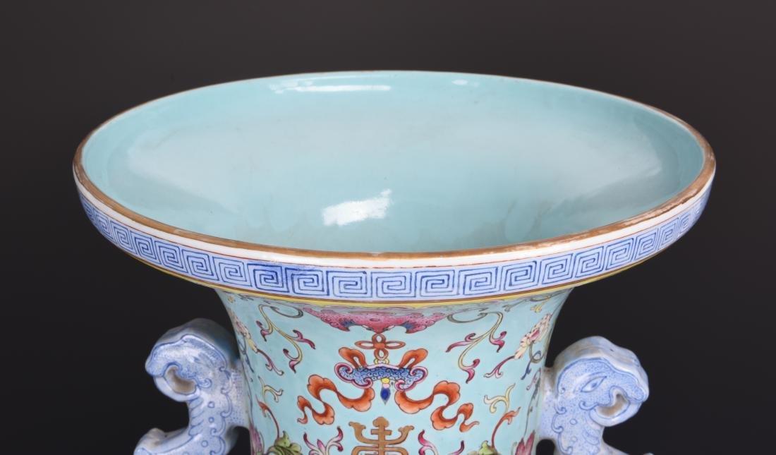 Famille Rose Porcelain  Vase with Mark - 20