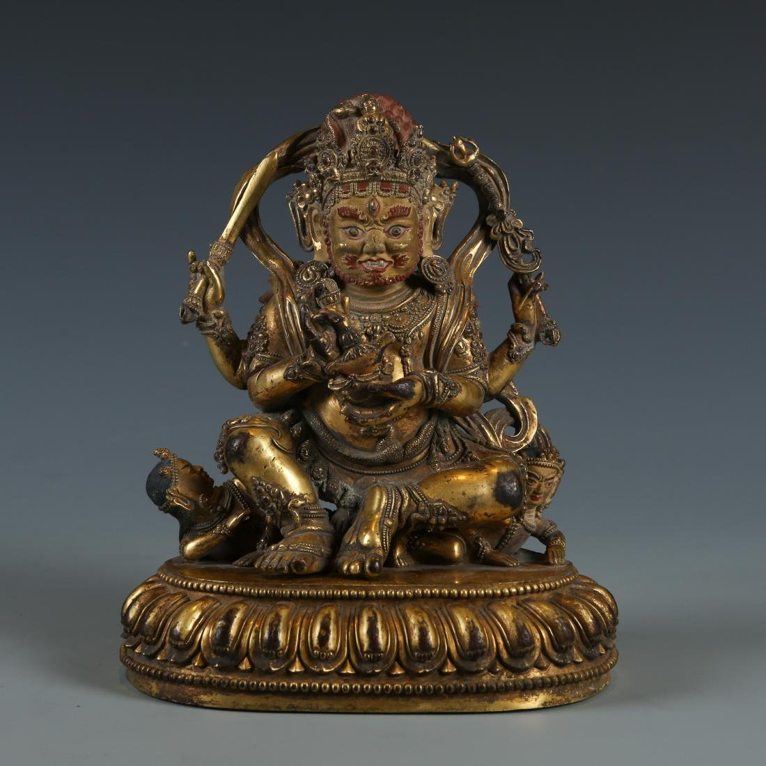 Gilt Bronze Figure of Mahakala