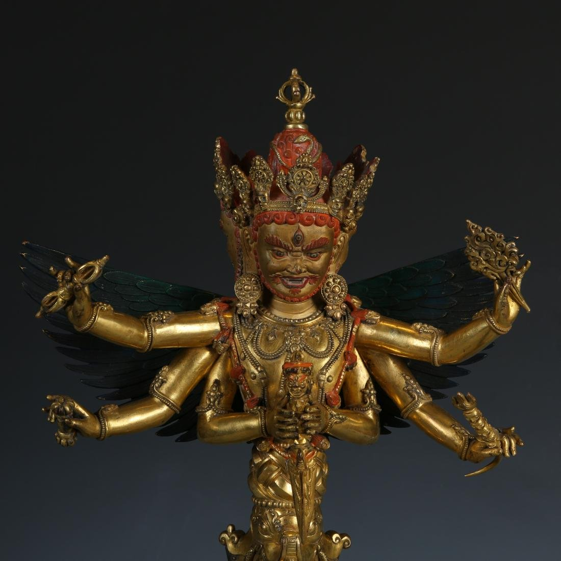 Gilt Bronze Figure of Mahakala - 2