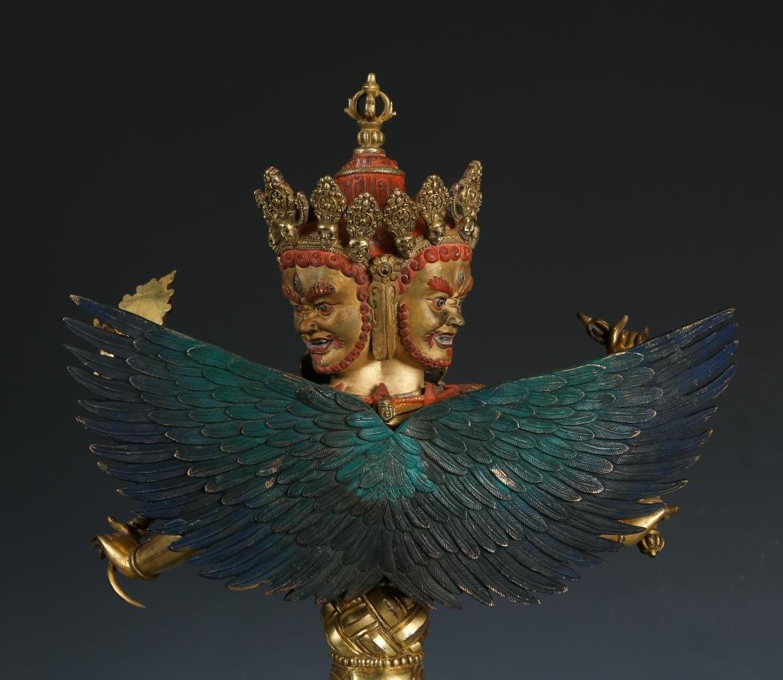 Gilt Bronze Figure of Mahakala - 6