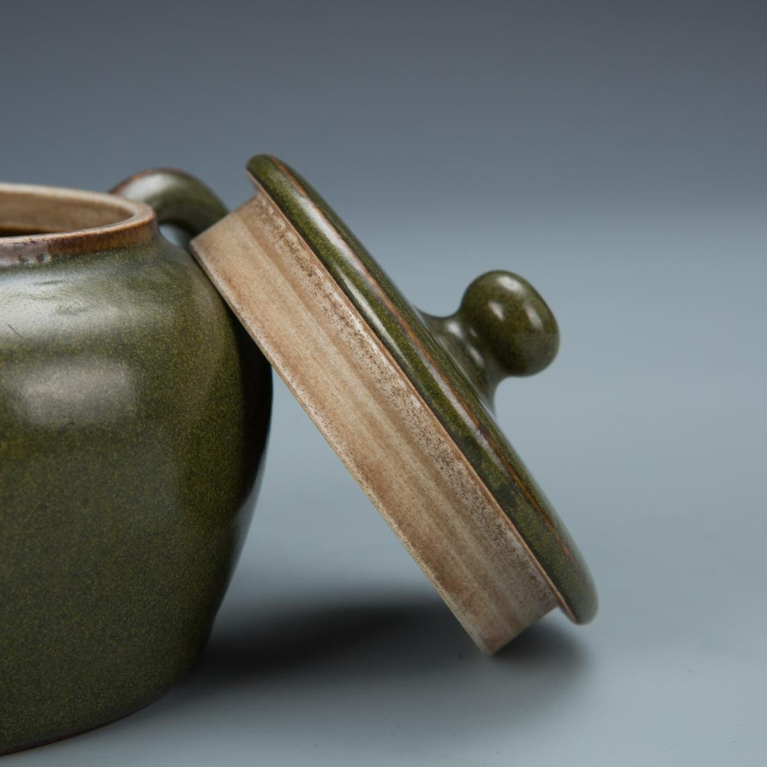 Green Glazed Porcelain Tea Pot with Mark - 6