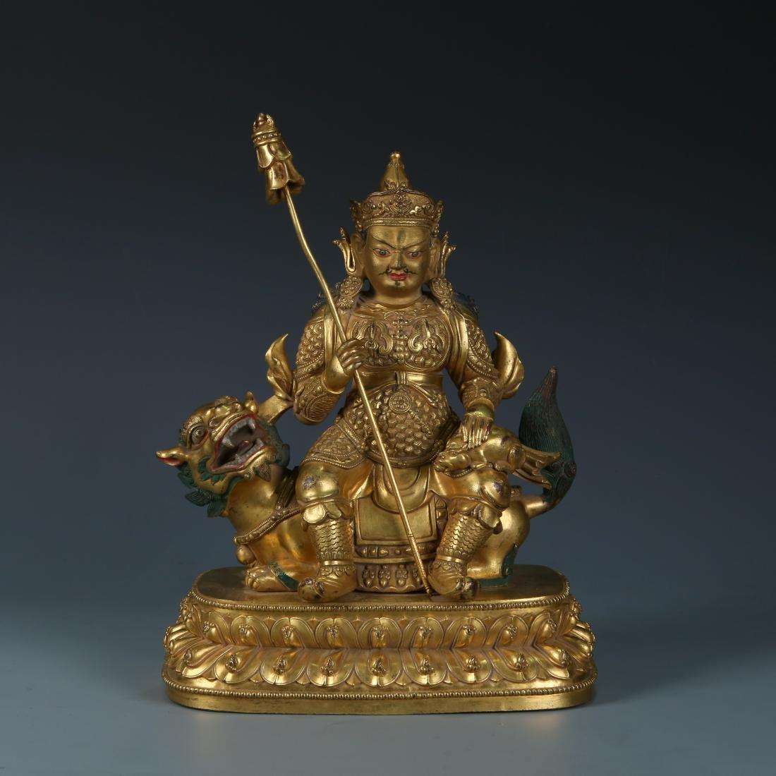 Gilt Bronze Figure of Vaishravana