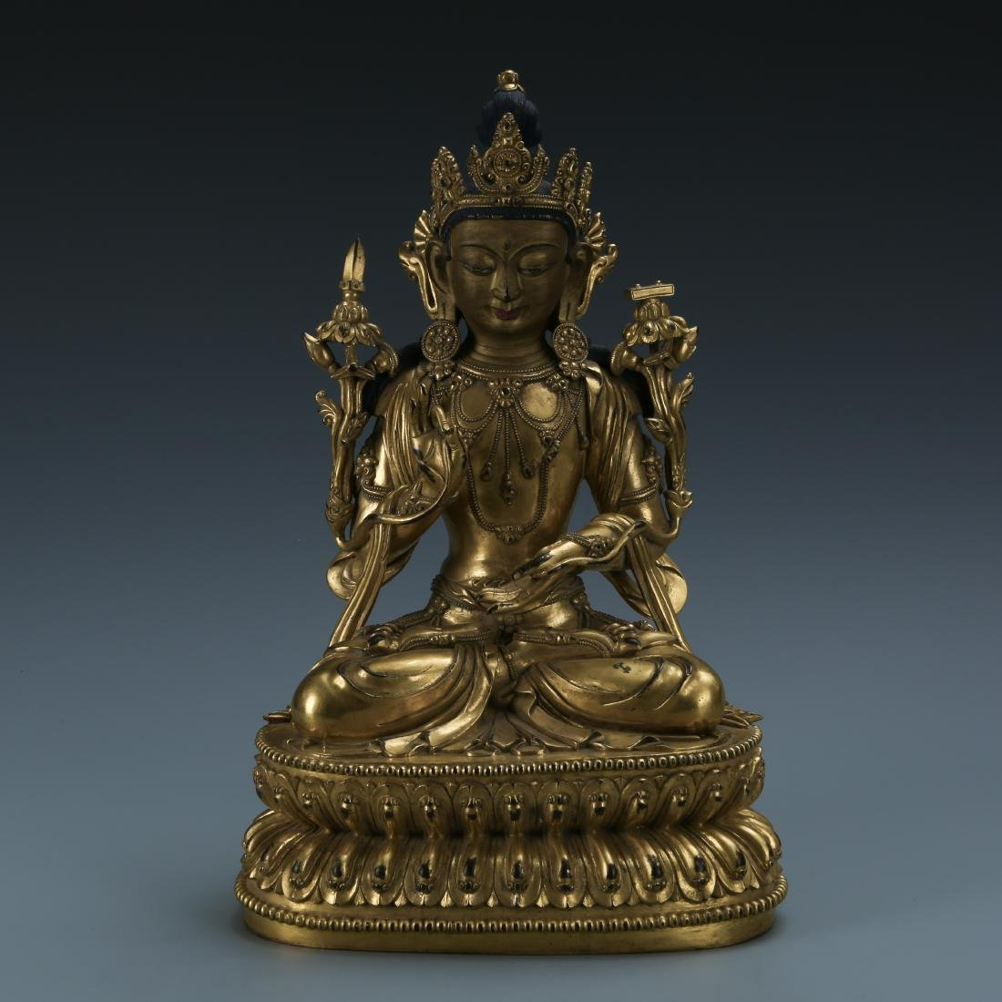 Gilt Bronze Figure of Padmapani
