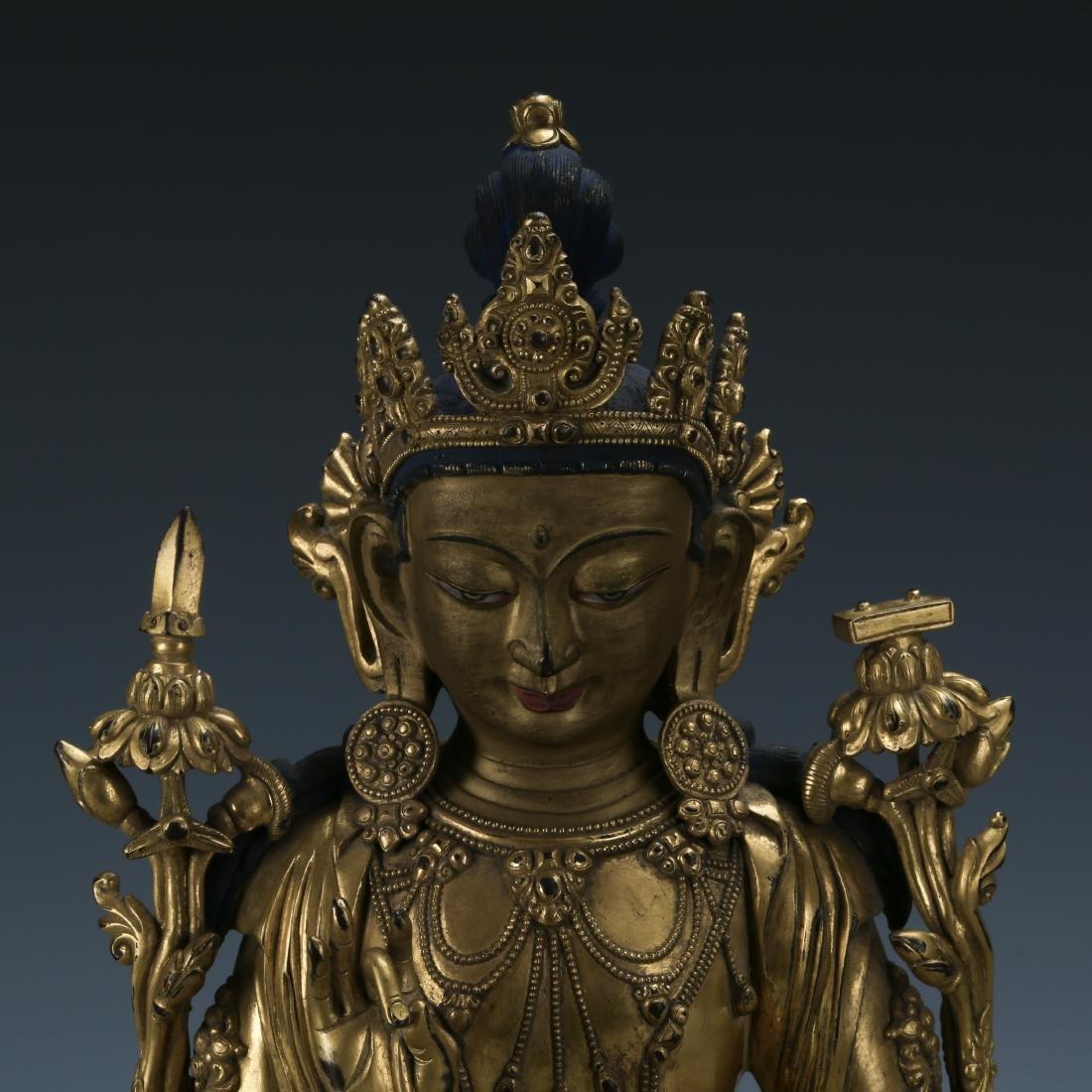 Gilt Bronze Figure of Padmapani - 2