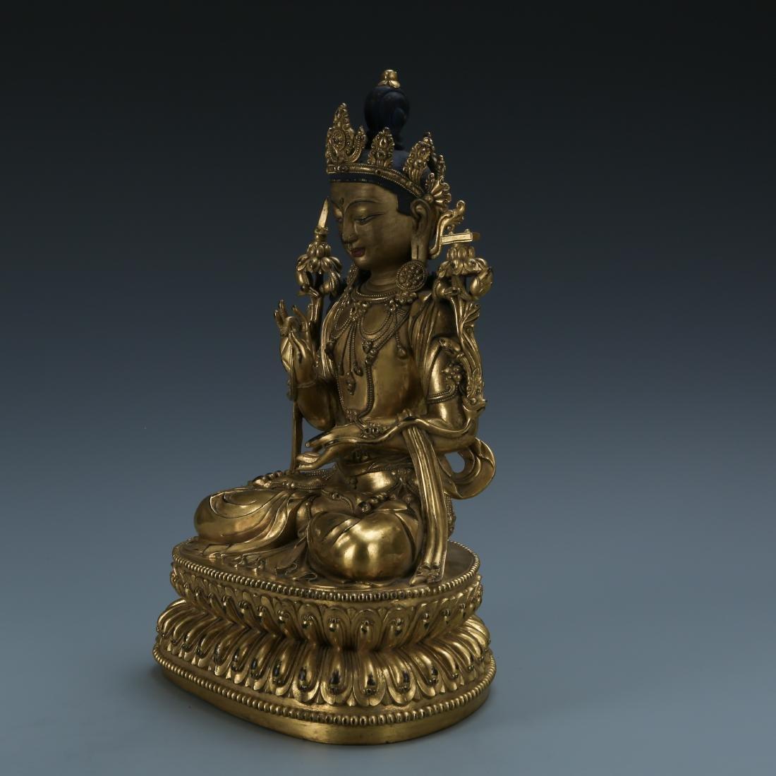 Gilt Bronze Figure of Padmapani - 3